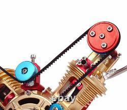 Scale V2 Type Convex Mounts Full Metal Assembled Gasoline Engine Model Building