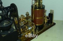 Steam coffee grinding factory model plan