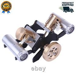 Stirling Engine Kit V Shape Motor 2-Cylinder Vacuum Model Educational Toy Gift