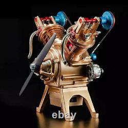 Stirling Engine Kit V Shape Motor 2-Cylinder Vacuum Model Educational Toy Gifts