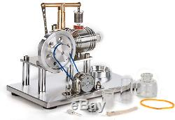 Sunnytech Hot Air Stirling Engine Motor Model Educational Toy Electricity LED SC