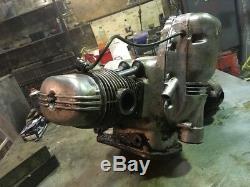 Ural 650 motorcycle engine/motor. Working. Video inside. (Model M-67-36, 1984)