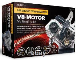 V8 Motor Engine Kit 13 Plastic Model Kit Franzis