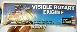 VTG 1980 Revell Visible ROTARY ENGINE Operating MOTORIZED MODEL KIT Unopened