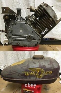 Vintage 1940s Whizzer Model H Motor/Engine and Whizzer Model J Embossed Tank