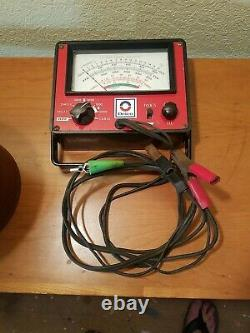 Vintage AC Delco Engine tune-up tester Dwell Meter Auto Service GM Tachometer