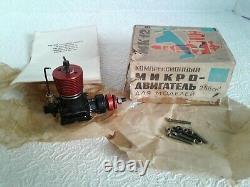 Vintage Aircraft Model Engine Aero Modelling Micro Motor Diesel Soviet MK 12B