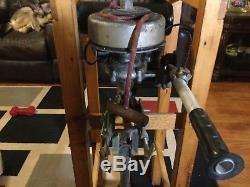 Vintage British Seagull Outboard Motor model 40 2 stroke engine boat motor