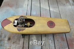Vintage Buckeye Tether Boat Model Gas Engine Motor Bosco Scientific