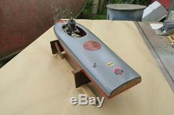 Vintage Buckeye Tether Boat Model Gas Engine Motor Scientific