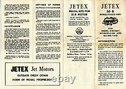 Vintage Jetex 50 B & Augmentor Tube Model Airplane Motor Engine With Box