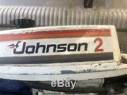 Vintage Johnson 2 Seahorse Outboard Engine Boat Motor Model 2r78r Nautical