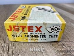 Vintage Nos Jetex 50b Model Motor Airplane Hydroplane Race Cars & Augmentor Tube