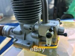 Vintage OS FS-60 4 Stroke Model Airplane Engine Open Rocker R/C Motor MK2 70's