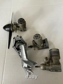 Vintage RC Model Airplane Engine And Boat Motor Lot of 4