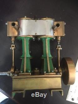 Vintage Stuart 2cyl Marine Launch Steam Engine Antique Boat Vessel Motor Model