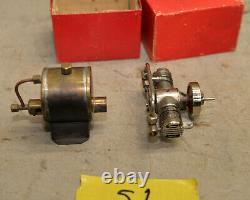 Vintage TMY twin cylindar steam engine Japan alchol minature model boat motor S1