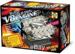 Visible V8 Internal Combustion Ohc Engine Motor Working Model Haynes Diy Kit Box
