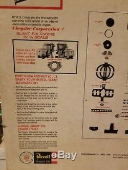 Vtg 1961 Revell Motorized 1/4 Scale Chrysler Slant Six Engine Model Kit Started